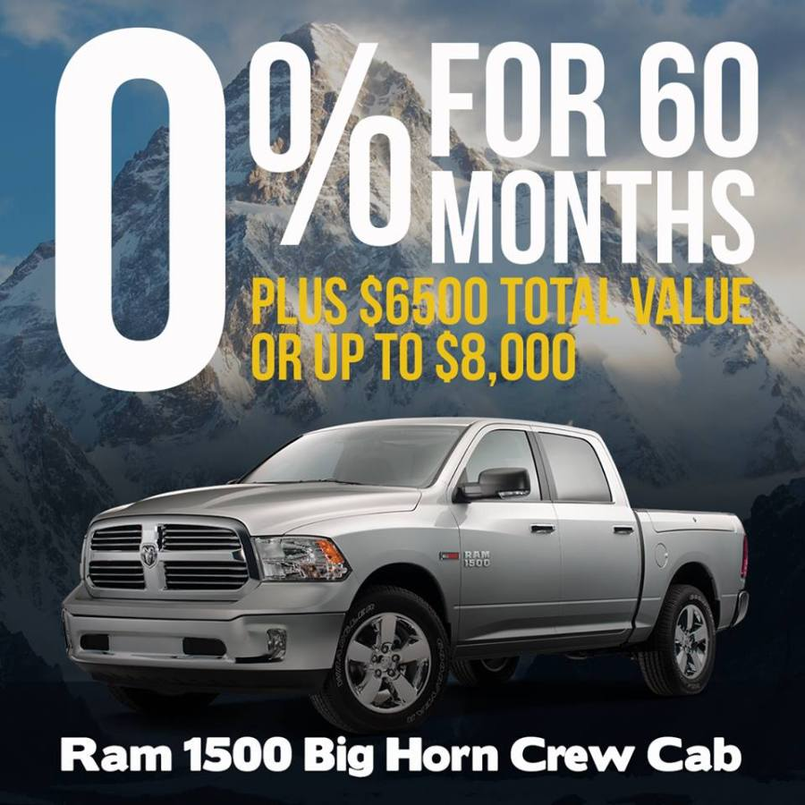 Ram 1500 Truck Month Incentives